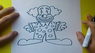 Como dibujar un payaso paso a paso 4 | How to draw a clown 4