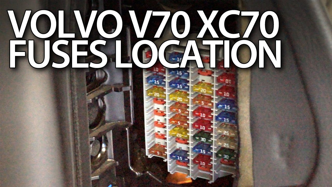 Fuse Box In Volvo S80 Xc70 Wiring Diagram Third Level V70 Fuses And Relays Location Youtube 1999