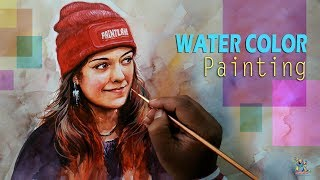 Water Color...Lady Portrait Painting | Drawing | Speed Painting