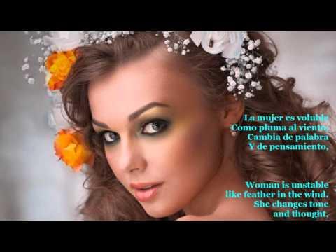 Luciano Pavarotti ♫♥ La donna è mobile ♫♥ (Giuseppe Verdi - Rigoletto) Spanish & English Subtitle