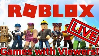 🔴 ROBLOOF TIME! Roblox Games with Viewers LIVE!