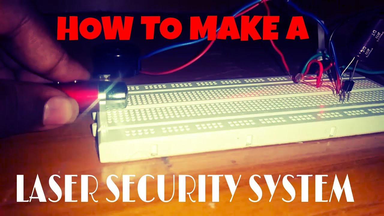 Diy How To Make A Laser Security System Alarm Youtube Premium