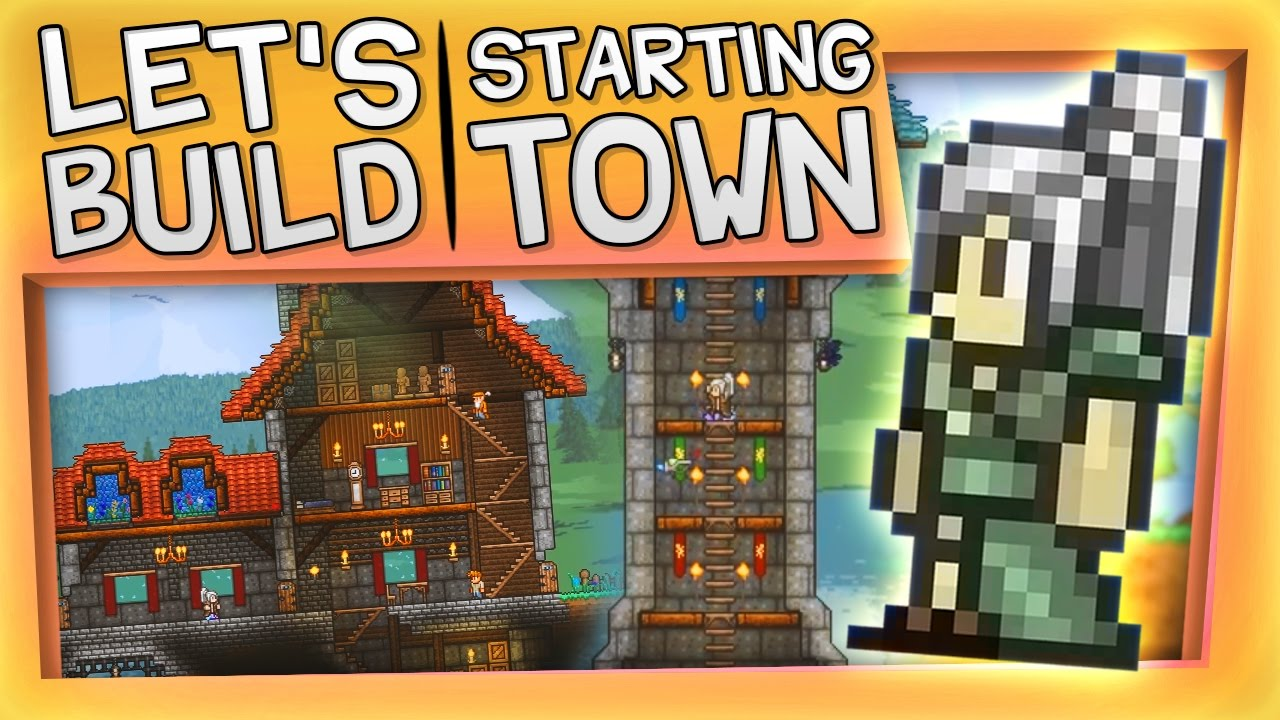 Terraria - Let's Build a Starting Town! — YOGSCAST Sjin ...