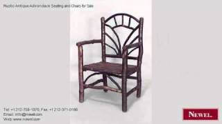 Rustic Antique Adirondack Seating And Chairs For Sale