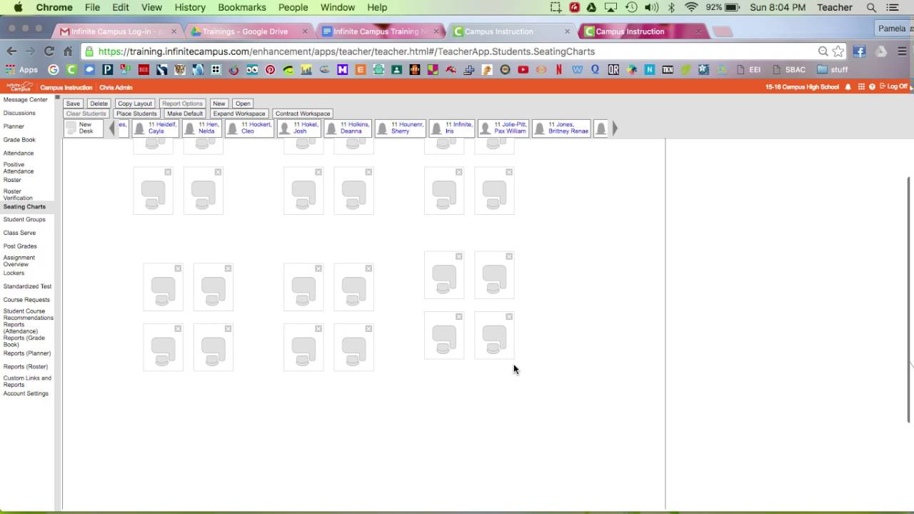 infinite campus seating chart youtube
