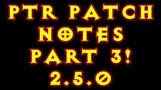diablo 3 ptr patch notes part 3 2 5 0