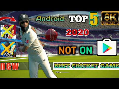 TOP 5 NEW ANDROID CRICKET GAMES NOT ON PLAY STORE HIGH GRAPHICS