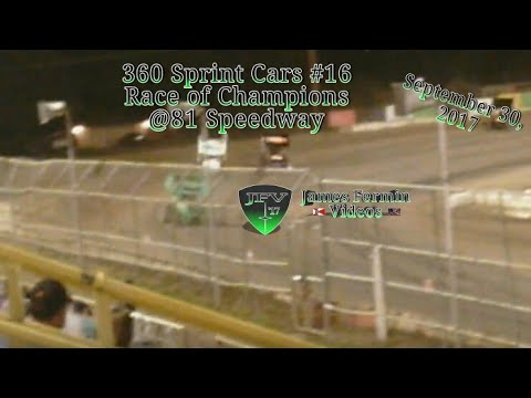 360 Sprint Cars #16, Auto Craft Race of Champions, 81 Speedway, 2017