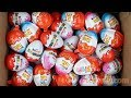 All New Kinder Surprise Eggs Kinder Joy Boys Girls Unboxing Toys Learn Colours with Kids Songs