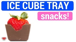 Food Hacks: Easy Ice Cube Tray Snacks! | Alison from Millennial Moms