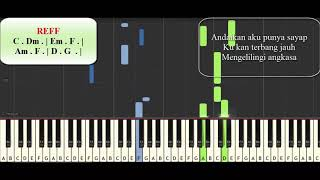 Download lagu Andaikan Aku Punya Sayap Piano Tutorial (Lagu Anak)