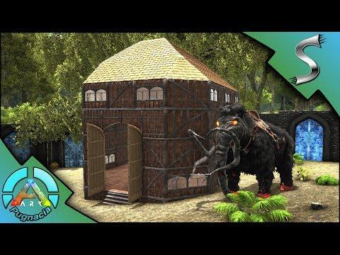 AMAZING VILLAGE HOUSE BUILDING! DINO STORAGE PLUS HOUSE! - Modded ARK: PUGNACIA [E6]