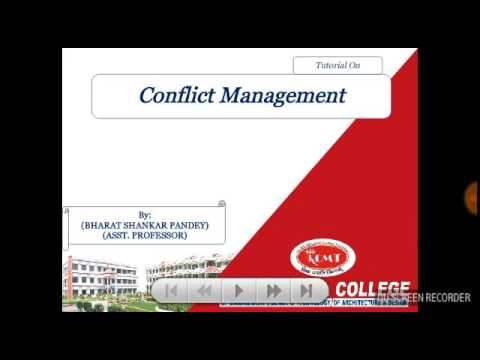 Conflict Management tutorial in hindi for MBA and bba students of aktu and mjpru