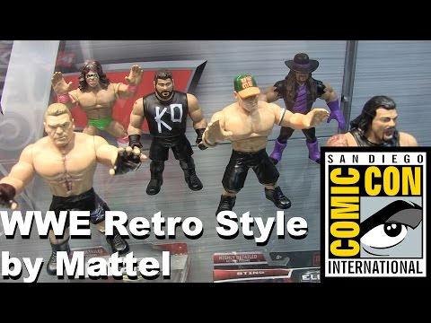 WWE Retro Style Figures from Mattel on display at San Diego Comic Con 2016