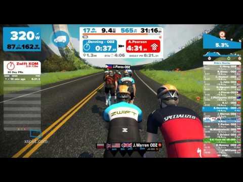 Zwift Tues 9/29/15 ODZ group ride/race on Watopia