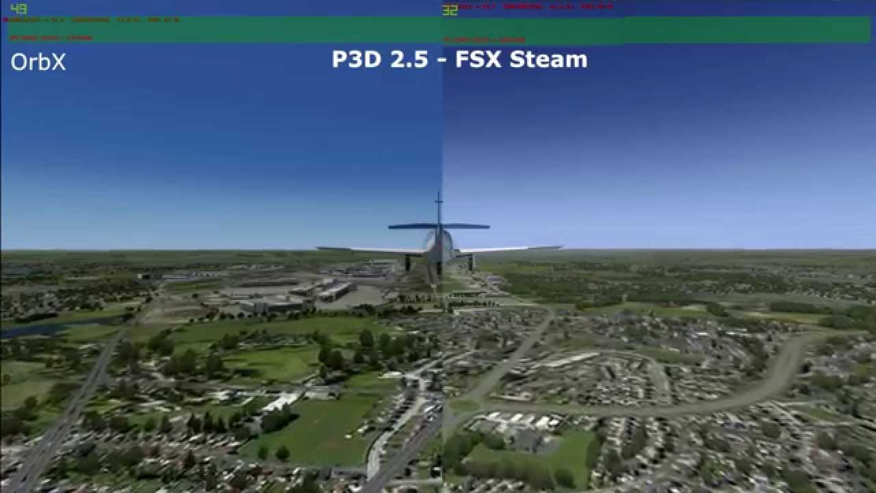 Prepar3D 2 5 vs FSX steam edition (P3D) (FSX) Free Download Video