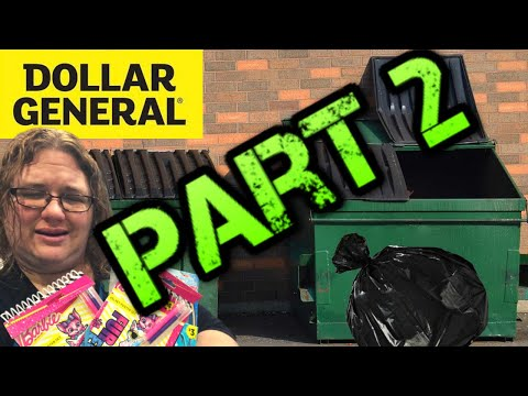 Dumpster Diving At Dollar General For Donations!
