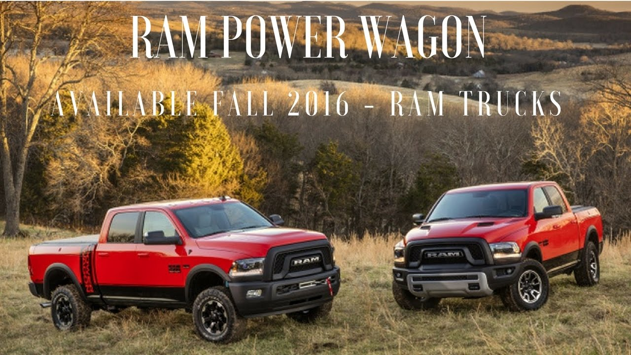New 2017 ram power wagon available fall 2016 ram trucks