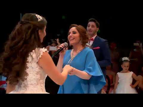 Nehme Famliy celebrating their sister's wedding