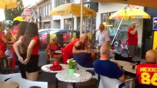 WK VOETBAL RUSLAND 6 juli 2018 België - Brazilië: 2-1 bij café Tonneke Lochristi