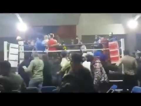 Boxing match goes out of control!!