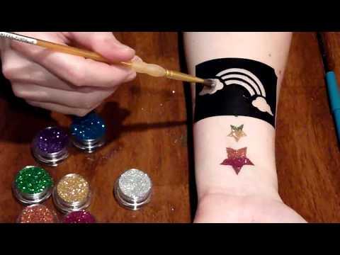 January glitter tattoo Tutorial