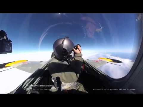"""Growler Inverted Air to Air Photo Pass / VAQ-130 """"ZAPPERS"""""""