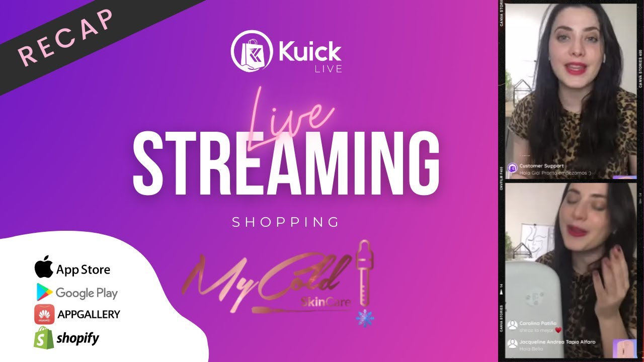 Download MyCold Skincare X Kuick, the LIVE Shopping APP  #LiveShopping