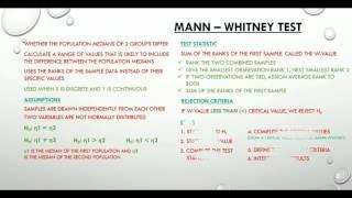 1.7 Mann-Whitney Test