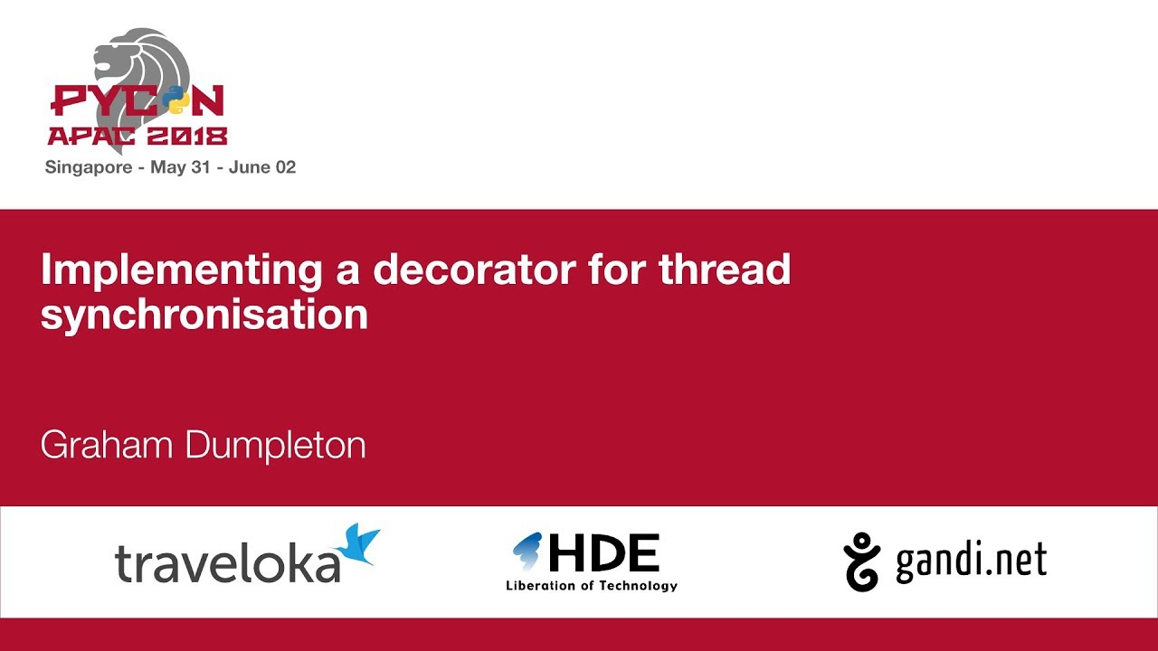 Image from Implementing a decorator for thread synchronisation
