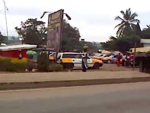 Ejisu, Ashanti Region, Ghana (Driving on the Accra - Kumasi Road on the outskirts of Kumasi)
