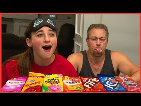Bubble Gum Challenge - Dad Pranks Girls - Kids Family Fun