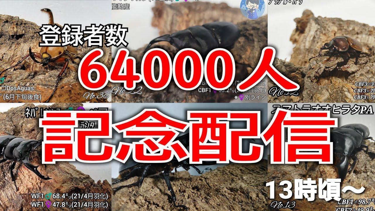 登録者数64000人記念配信