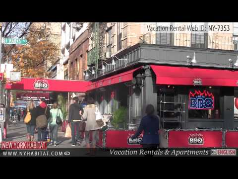 New York City - Video tour of a vacation rental on 13th Street (East Village - Manhattan)