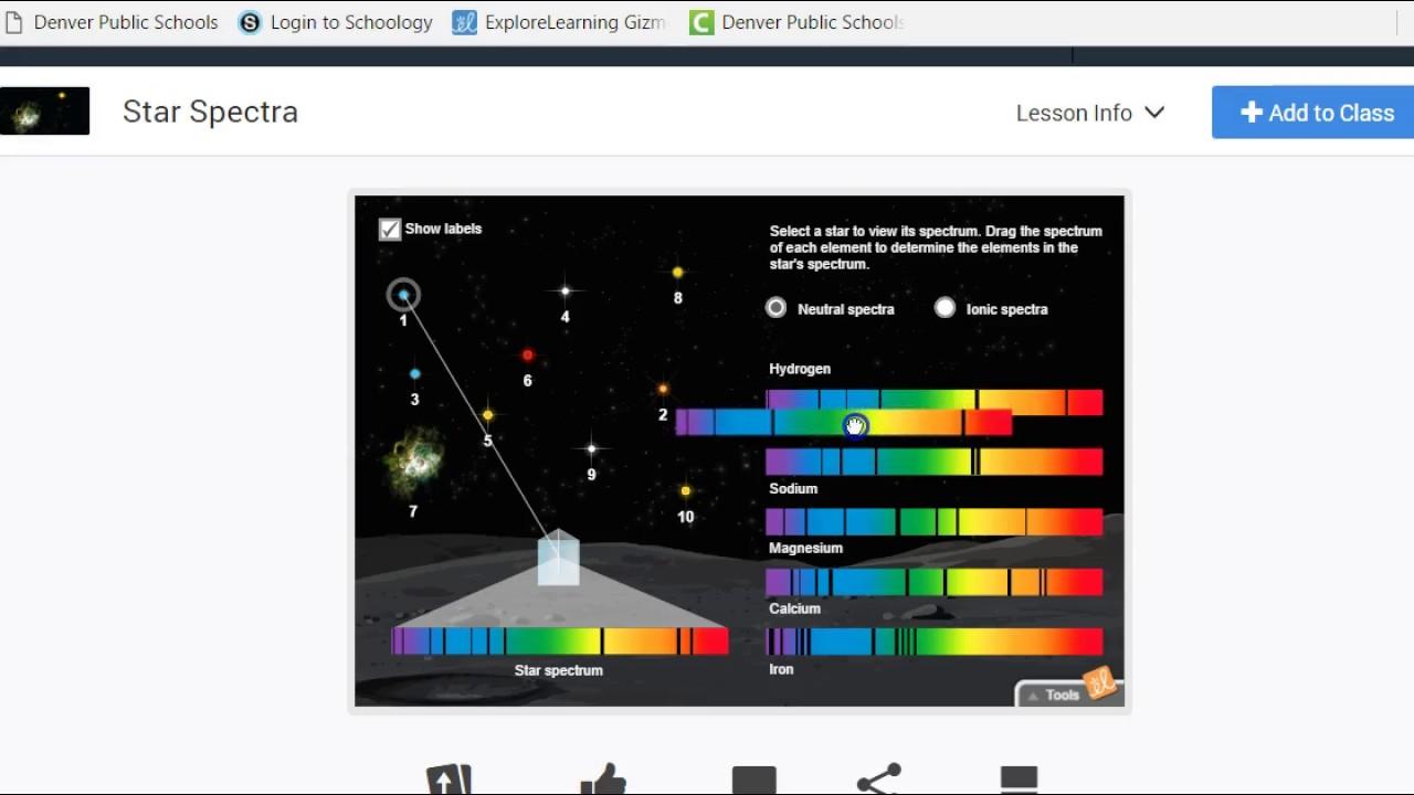 Star Spectra Gizmo - YouTube