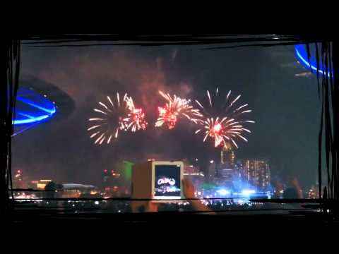 Fireworks @ One Marina Boulevard - 9th Of August 2011