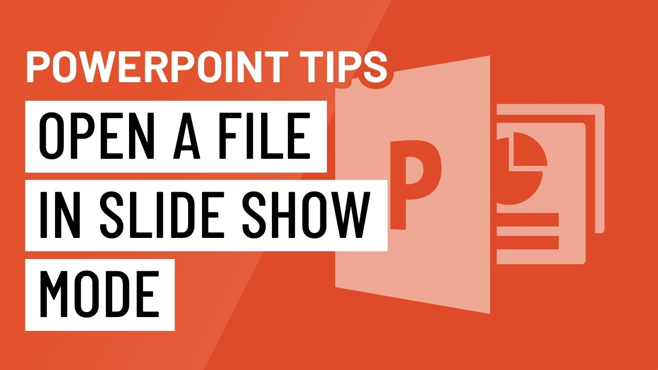 PowerPoint Quick Tip: Open a File in Slide Show Mode