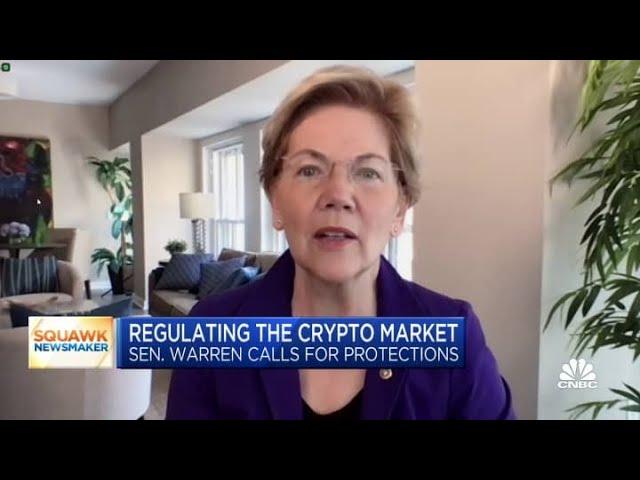 Elizabeth Warren Calls on Treasury Secretary to Take Urgent Action on Crypto