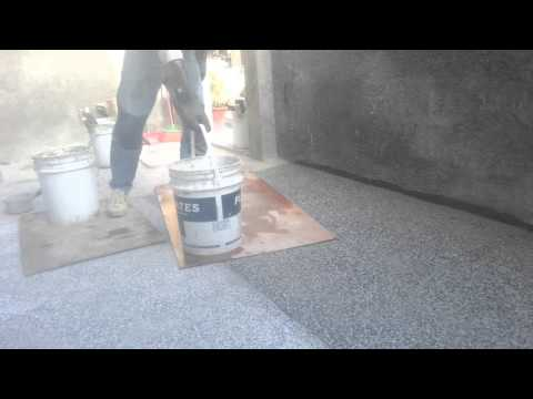 Small Stones Installation on Floor    (  pebble  Dashing   )  Part  2
