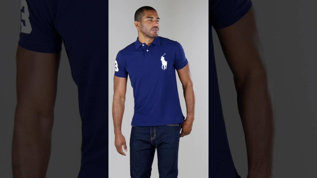 685185aaedaf Studio - Ralph Lauren Big Pony Custom Fit Polo Shirt - YouTube