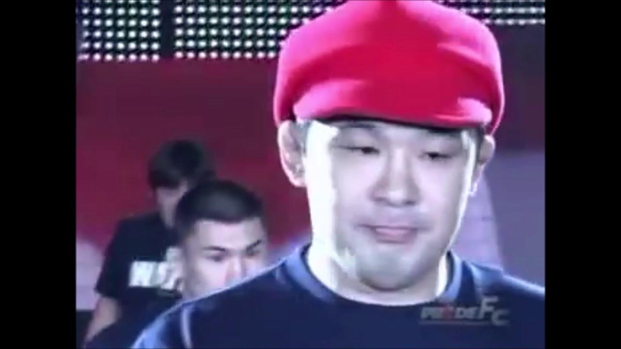 """Kazushi Sakuraba """"Super Mario"""" Entrance at PRIDE GP 2003 Final Conflict - YouTube"""