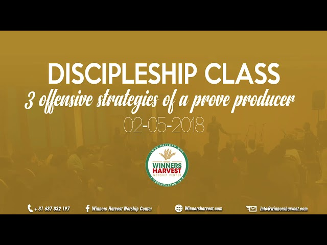 Discipleship training - 3 offensive strategies of a prove producer