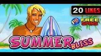 Summer Bliss - Slot Machine - 20 Lines + Bonus