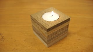 Tealight candle holder from scrap wood.....