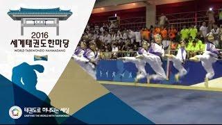 2016세계태권도한마당 - 국내 태권체조 주니어Ⅱ 결선1위