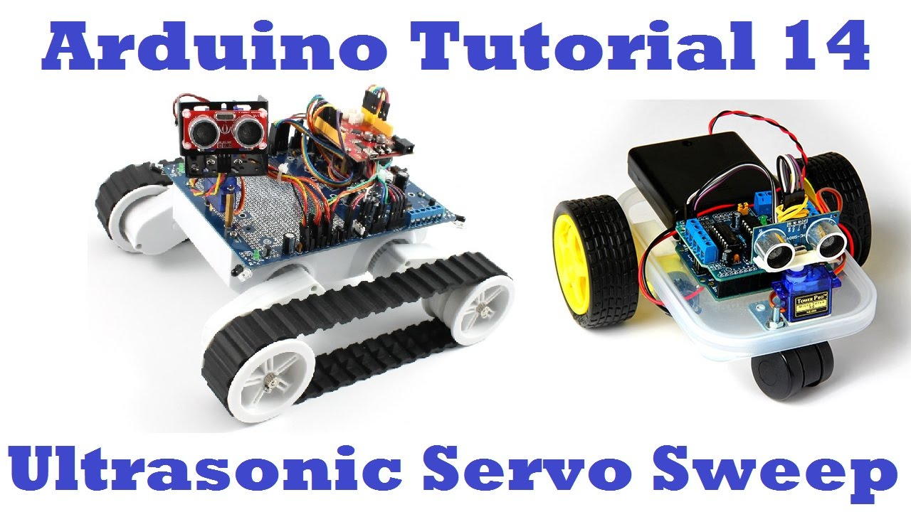 Arduino sensor servo sweep tutorial locating the nearest