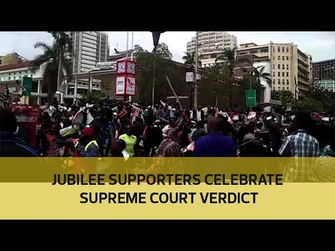 Jubilee supporters celebrate Supreme Court verdict