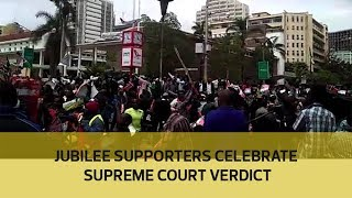 Video Jubilee supporters celebrate Supreme Court verdict download MP3, 3GP, MP4, WEBM, AVI, FLV November 2017