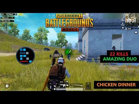 """[Hindi] PUBG MOBILE   """"22 KILLS"""" AMAZING DUO FUN GAME PLAY WITH CHICKEN DINNER"""