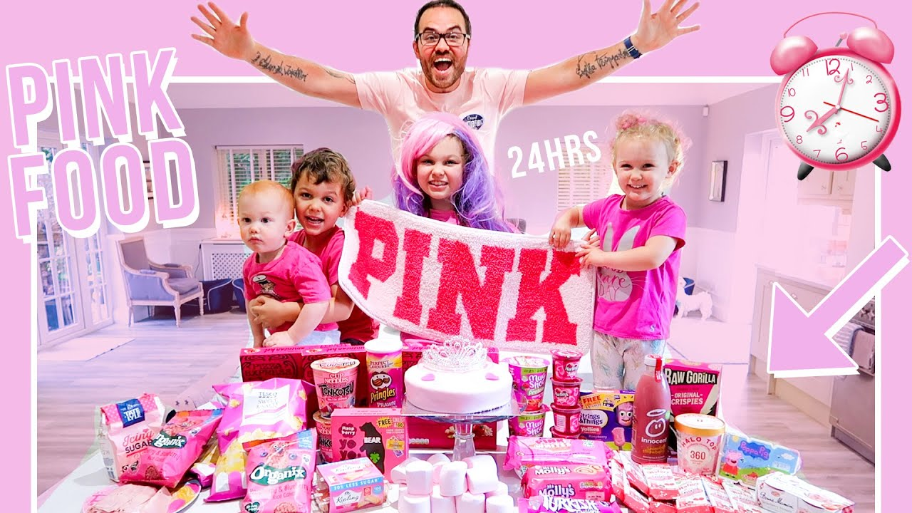 we ONLY ate PINK Food for 24 HOURS!!